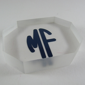 Monogrammed Acrylic Paper Weight