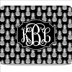 Monogrammed Pineapple Pattern Cutting Board