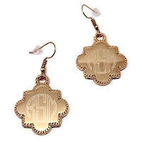 Quatrefoil Engraved Earrings