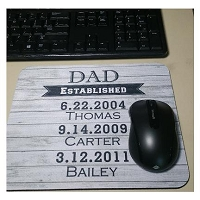 Fathers Day Established Mouse pad