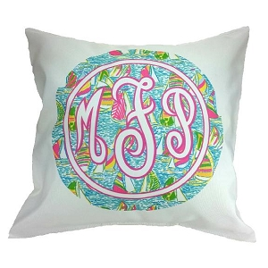 Personalized Preppy Pillow Cover