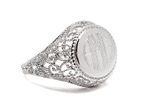 Sterling Silver Filigree Round Ring